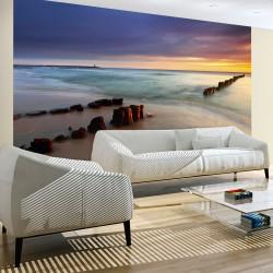 Fototapeta - Plaża - wschód słońca