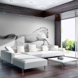 Fototapeta - White gallop