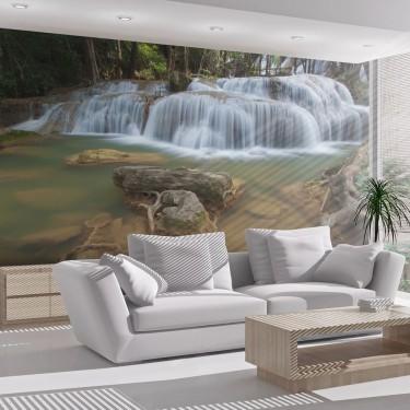 Rzeka i wodospad