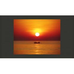 Fototapeta  Łódź rybacka o zachodzie słońca
