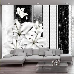 Fototapeta Płaczące lilie w bieli