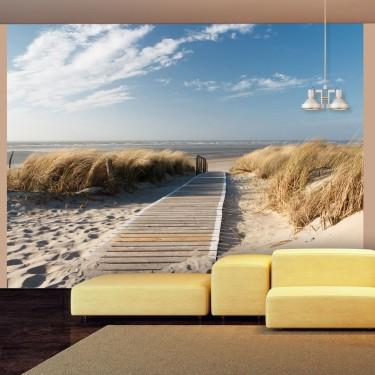 Fototapeta  Plaża Morza Północnego, Langeoog