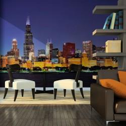 Fototapeta Nocne życie w Chicago