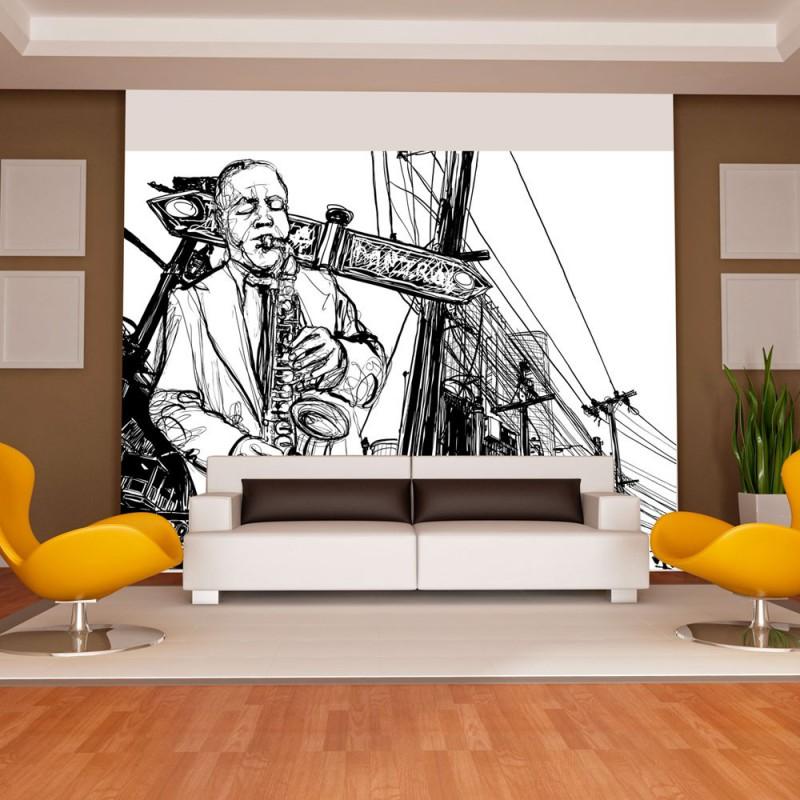 Fototapeta  Saxophone recital on Broadway