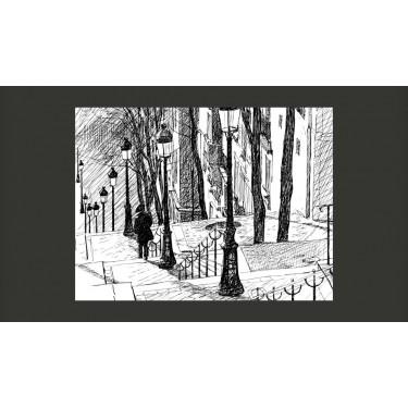 Fototapeta  schody  Montmartre