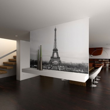 Fototapeta  Paryż czarnobiała fotografia