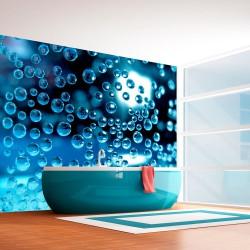 Fototapeta - Niebieska woda z bąbelkami