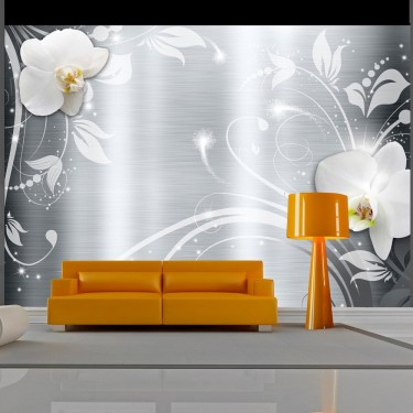 Fototapeta - Orchidee na stali