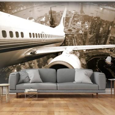 Fototapeta  Samolot wzbijający się w powietrze