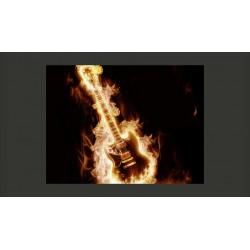 Fototapeta  Płonąca gitara