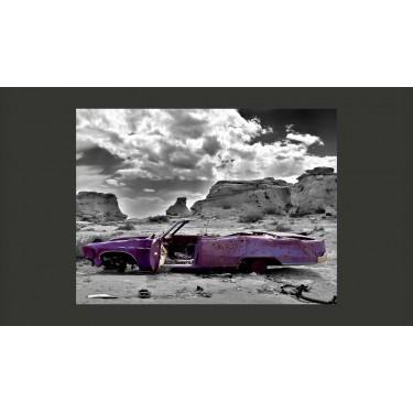 Fototapeta  Samochód w stylu retro na Pustyni Kolorado