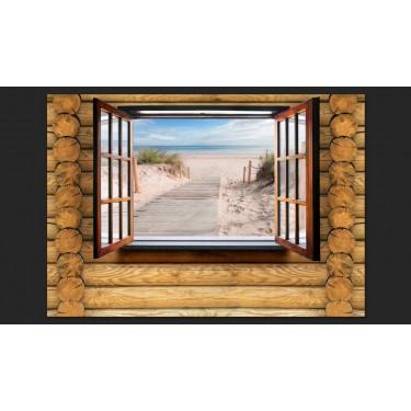 Fototapeta  Plaża za oknem