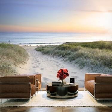 Fototapeta - Poranny spacer po plaży