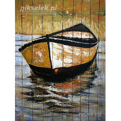 Samotna łódka