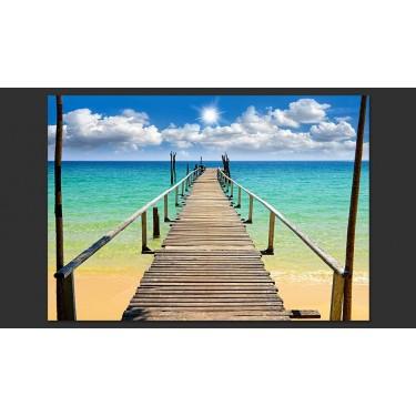 Fototapeta  Plaża, słońce, pomost