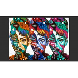 Fototapeta  Kolorowe twarze