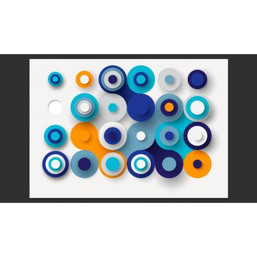 Fototapeta  Geometria niebieskiego koła