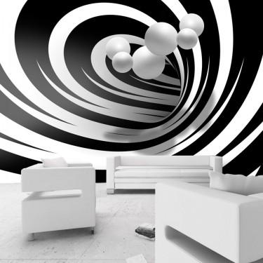 Fototapeta  Zakręceni w bieli i czerni
