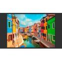 Fototapeta Kolorowy kanał w Burano