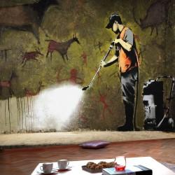 Fototapeta - Banksy - Cave Painting