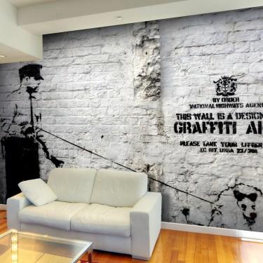 Fototapeta  Banksy  Graffiti Area