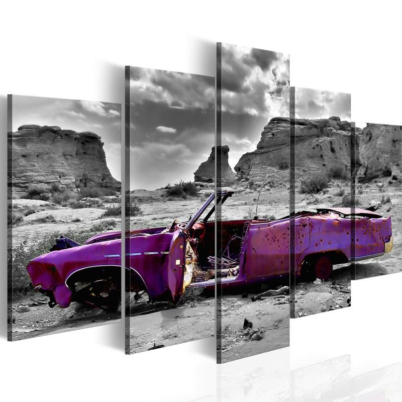 Obraz Samochód w stylu retro na Pustyni Kolorado 5 części