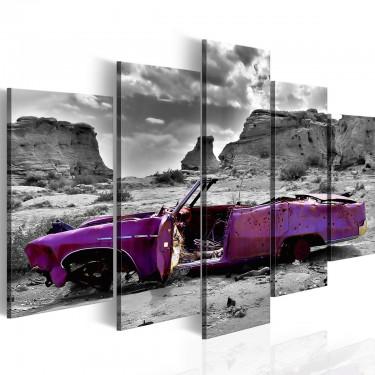 Obraz - Samochód w stylu retro na Pustyni Kolorado - 5 części