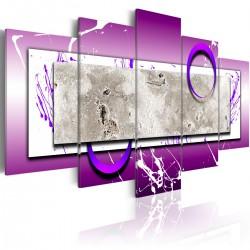 Obraz Abstrakcja z fioletem