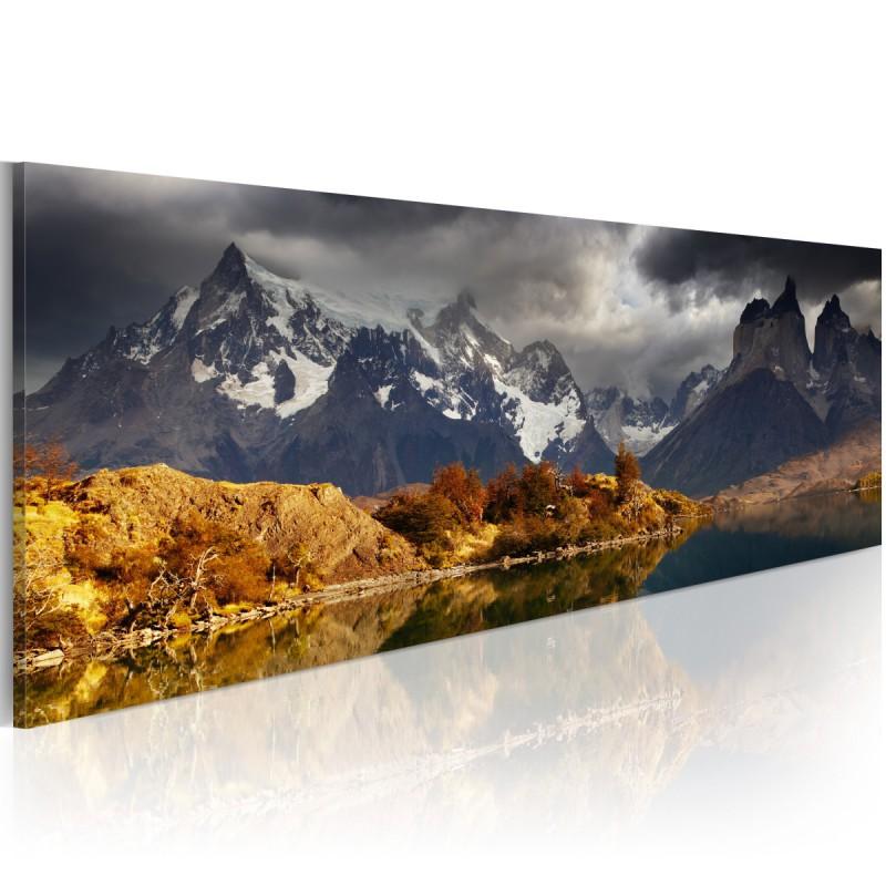 Obraz  Mountain landscape before a storm