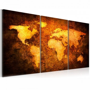 Obraz  Rdzawe kontynenty