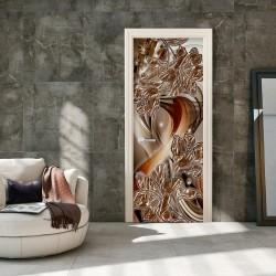Fototapeta na drzwi Tapeta na drzwi Abstrakcja i kwiaty