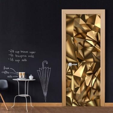 Fototapeta na drzwi  Tapeta na drzwi  Złota geometria