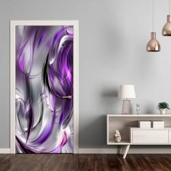 Fototapeta na drzwi Tapeta na drzwi Fioletowa abstrakcja