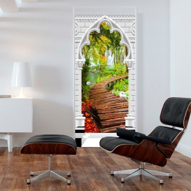 Fototapeta na drzwi  Tapeta na drzwi  Łuk gotycki i ścieżka