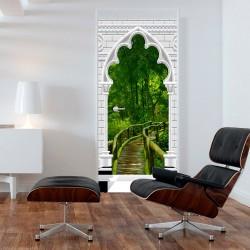 Fototapeta na drzwi Tapeta na drzwi Łuk gotycki i dżungla