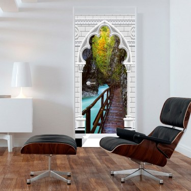 Fototapeta na drzwi  Tapeta na drzwi  Łuk i drewniana ścieżka