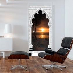 Fototapeta na drzwi Tapeta na drzwi Łuk gotycki i zachód słońca