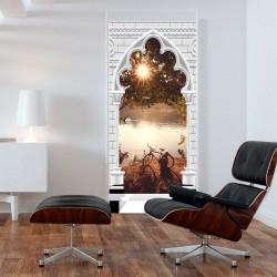 Fototapeta na drzwi Tapeta na drzwi Łuk gotycki i jezioro