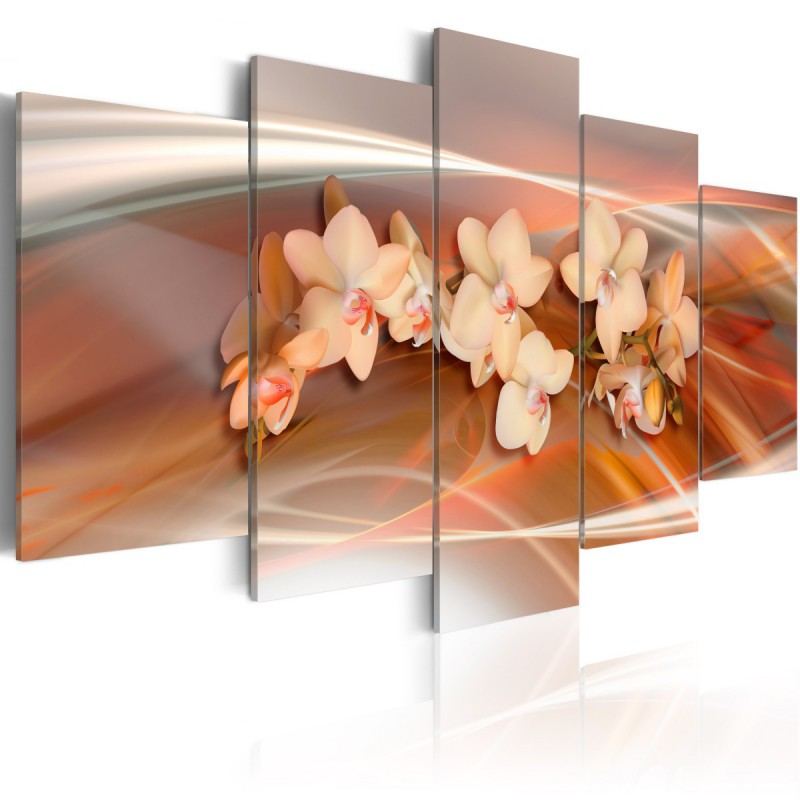Obraz Orchidea w ciepłych szarościach