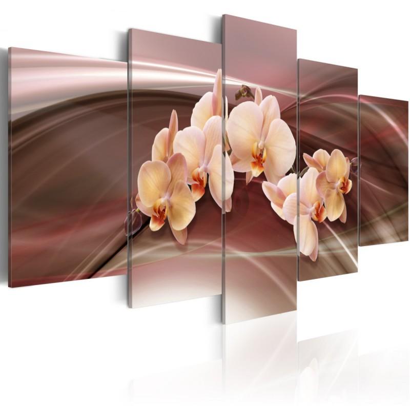 Obraz Kwiaty orchidei na falującym tle