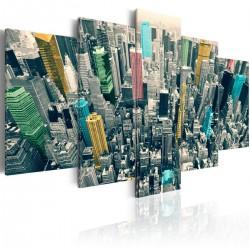 Obraz  Szarość dnia ożywiona  NY