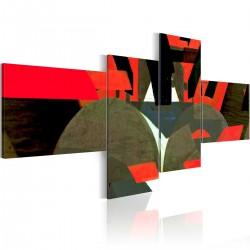 Obraz Czerń, czerwień i abstrakcyjne kształty
