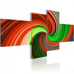 Obraz Zielonoczerwona spirala