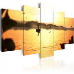 Obraz Jezioro o zachodzie słońca