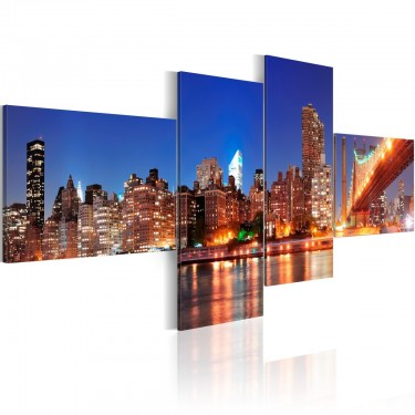 Obraz  Nocna panorama  Nowy Jork