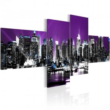 Obraz  Nowy Jork na fioletowym tle