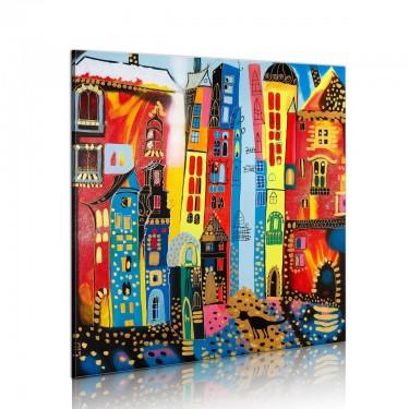 Obraz malowany  Magiczna ulica