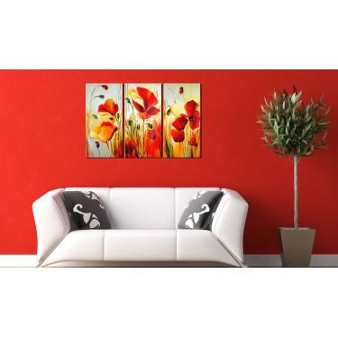 Obraz malowany  Czerwona łąka