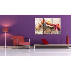 Obraz malowany  Maki smagane wiatrem