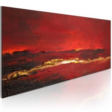 Obraz malowany  Czerwień oceanu
